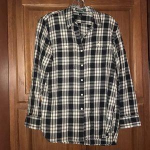 Ralph Lauren Woman's Petite Plaid Flannel Shirt